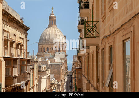 The rooftops of Valletta - Stock Image