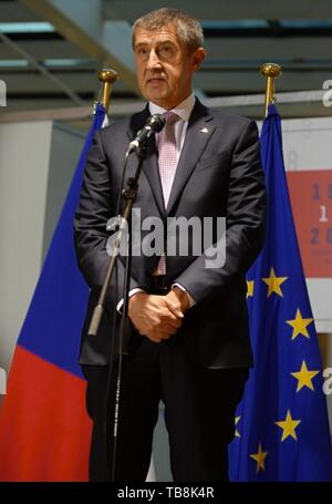 ***OCTOBER 18, 2018, FILE PHOTO*** Czech PM Andrej Babis (ANO) faces a conflict of interest over the prevailing links to his former firms in the Agrofert group, according to an audit that the European Commission (EC) sent to Czech authorities, Hospodarske noviny (HN) financial paper writes on its website today, on Friday, May 31, 2019. Brussels demands that all EU subsidies Agrofert received from 2018 be returned. Babis owned the Agrofert giant chemical, agricultural, food and media holding until 2017 when, in his then capacity as finance minister, he transferred it to trust funds to comply - Stock Image
