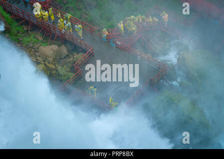 Cave Of The Winds Observation Deck, Niagara Falls, New York USA - Stock Image