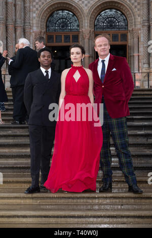 Kedar Williams-Stirling, Emma Mackey, Alistair Petrie attends The global premiere of Netflix's OUR PLANET on Friday 5 April 2019 at The Natural History Museum, London. . Picture by Julie Edwards. - Stock Image