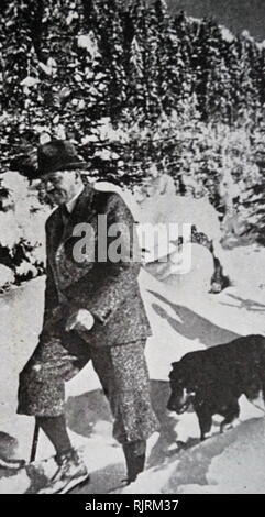 Blondi (1941 - 1945) was Adolf Hitler's German Shepherd, a gift as a puppy, from Martin Bormann in 1941. Blondi stayed with Hitler even after his move into the Fuhrerbunker located underneath the garden of the Reich Chancellery on 16 January 1945. According to Albert Speer, Hitler killed Blondi because he feared that the Russians would capture and torture her after overrunning the bunker. - Stock Image