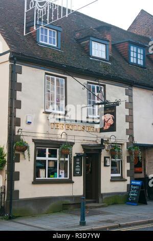 Exterior Of The Bulls Head Pub Reigate Surrey UK - Stock Image