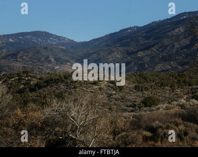 San Andres fault sign County of Los Angeles - Stock Image