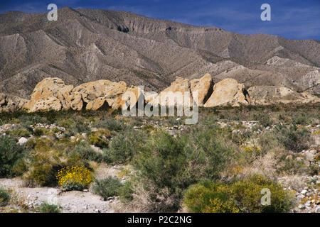 Truckhaven Rocks, Anza-Borrego, CA 980322_123L - Stock Image