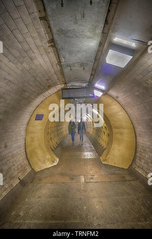 greenwich foot tunnel - Stock Image