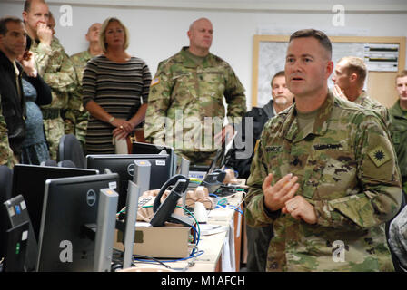 More than 60 soldiers from the Cal Guard's 40th Infantry Division are serving as the Higher Control (HICON) - Stock Image