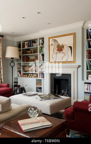 Horse painting in living room - Stock Image