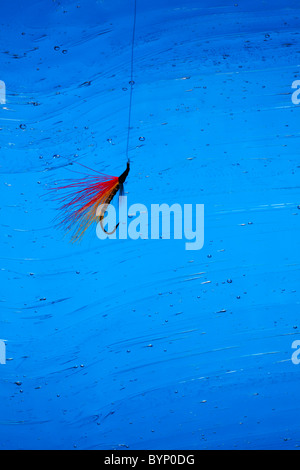 Fly Fishing Hook in Water - Stock Image