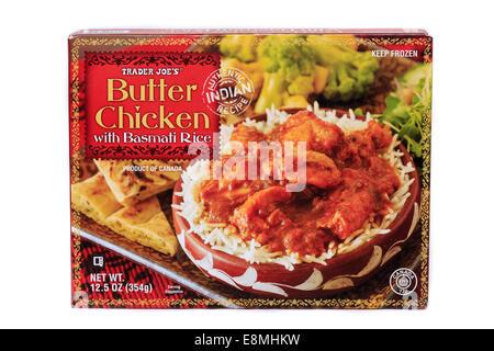 Trader Joe's Butter Chicken with Basmati Rice Prepared Frozen Dinner - Stock Image
