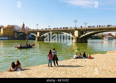 Isabel II Bridge - Stock Image