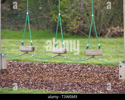obstacle course equipment in a park - Stock Image