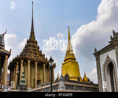 Interior in the Grand Palace in Bangkok, Thailand - Stock Image