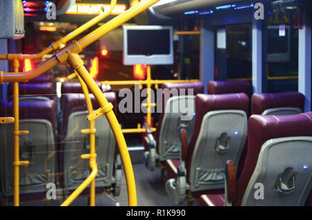 Front view interior of Royal Trans bus - Stock Image