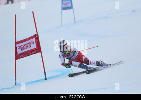 08 Dec. 2018 Val d'Isère, France. Philipp Schoerghofer of Austria competing in men's Giant Slalom Audi FIS Alpine Ski World Cup 2019 wintersports ski - Stock Image