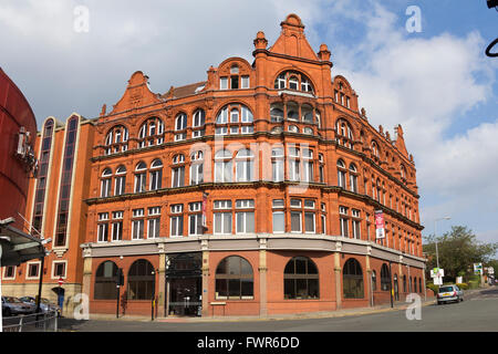 St Georges House on St George's Road, Bolton. Formerly a Co-op store and later used by the NHS Prescription - Stock Image