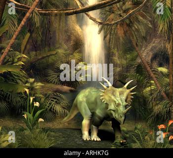 dinosaur Styracosaurus - Stock Image