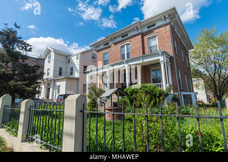 Astoria, New York, 29 April 2018 - The historic Chamberlain-Taylor (deWayt) house, 9-29 27th Avenue at 12th Street, was built in 1845 ©Stacy Walsh Rosenstock - Stock Image