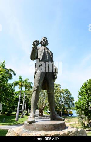 Captain James Cook Statue, Cooktown, Far North Queensland, QLD, FNQ, Australia - Stock Image