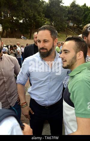 Santiago Abascal Vox Leader during San Isidro Fair 2019 in Madrid  22/05/2019  Cordon Press - Stock Image