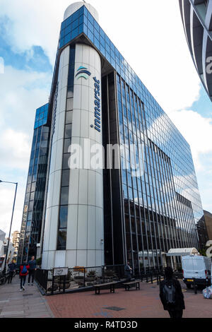 The Inmarsat Office at 99 City Road on the Old Street Roundabout, the Silicon Roundabout in London, UK. - Stock Image