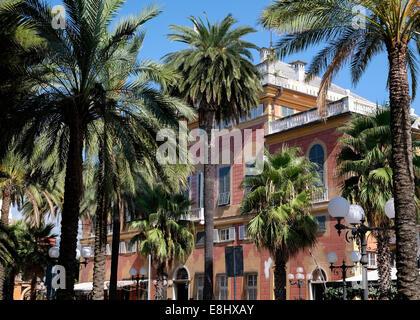 Facade of the Grand Hotel Villa Balbi, Sestri Levante, Liguria, Italy - Stock Image