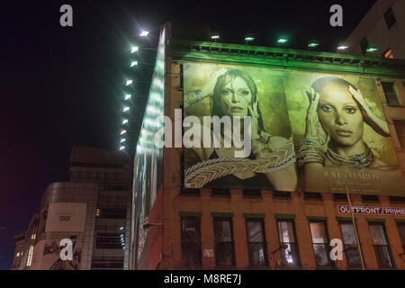 New York, NY, USA, 18 March 2018 Billboard advertising for John Hardy on Houston Street in Noho. ©Stacy Walsh - Stock Image