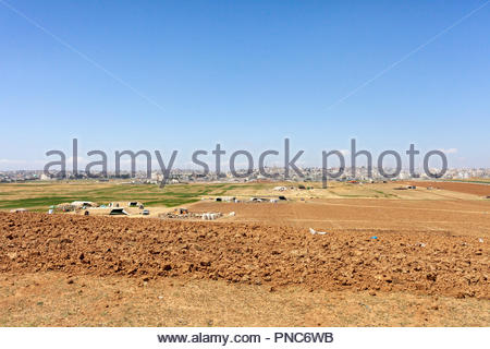 Farming, Agriculture on the Outskirts of Amman Jordan - Stock Image