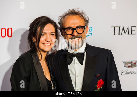 Massimo Bottura attends TIME 100 GALA on April 23 in New York City - Stock Image