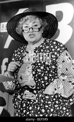 U.S. Representative BELLA ABZUG (D-NY) during a political event in 1977. - Stock Image