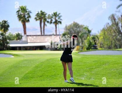 Rancho Mirage, California, USA. 2nd Apr, 2017. Michelle Wie on the 15th fairway during the final round of the ANA - Stock Image