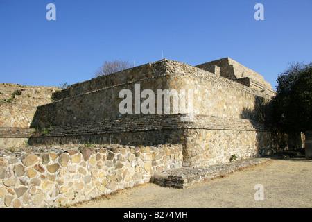 The Archeological Site at Monte Alban near Oaxaca City, Oaxaca, Mexico - Stock Image