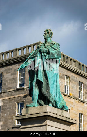 Statue of King George IV, by Sir Francis Chantry (unveiled 1831), George Street, Edinburgh, Scotland, UK - Stock Image