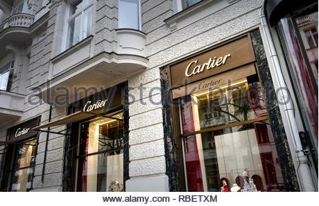 Cartier luxury store - Stock Image