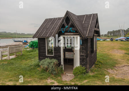The tiny museum converted from a former ferryman's hut at Alnmouth, Northumberland, UK - Stock Image