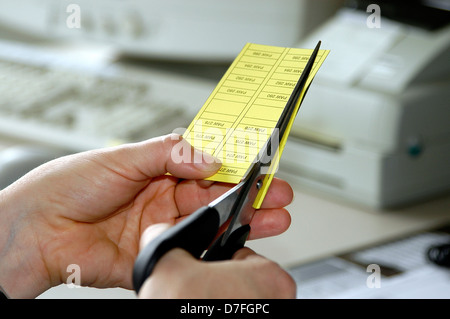 Business, scissors, something cut, reaping, office - Stock Image