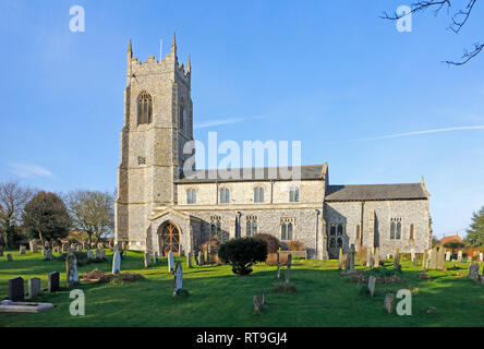 A view of the parish Church of St Mary the Virgin at Northrepps, Norfolk, England, United Kingdom, Europe. - Stock Image