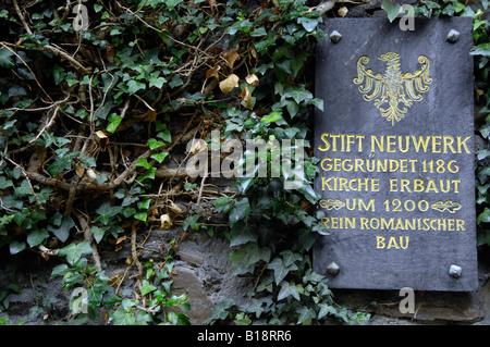church sign slate goslar harz mountains germany deutschland - Stock Image