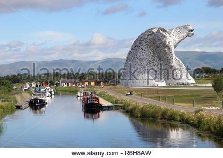 The Kelpies in Falkirk, Scotland, UK. - Stock Image
