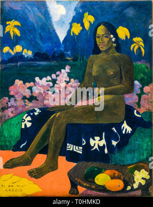 Paul Gauguin, The Seed of the Areoi, portrait painting, 1892 - Stock Image