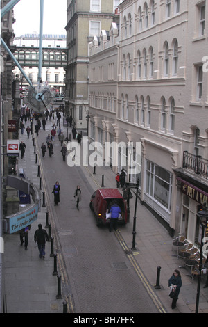 Aerial view of Villiers Street Embankment London January 2010 - Stock Image