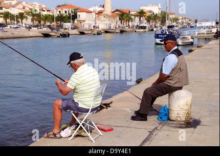 Fishing in the port of Le grau du Roi, Héraullt, France - Stock Image
