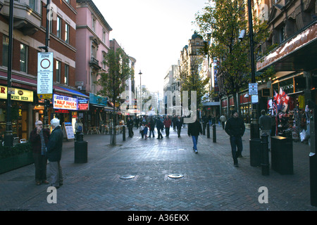 Shops leading into Leicester Square London Winter 2006 - Stock Image