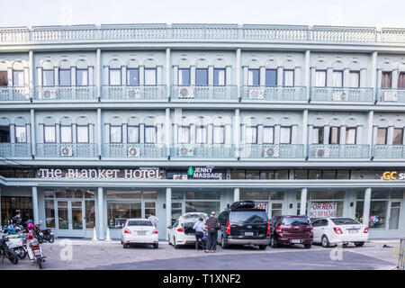 Phuket, Thailand 21st January 2019: The Blanket Hotel in Phuket Town. Many new hotels have opened to meet the demands from tourists. - Stock Image