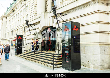 London dungeon entrance, London dungeon, London dungeon building, London dungeon attraction, London attraction, - Stock Image
