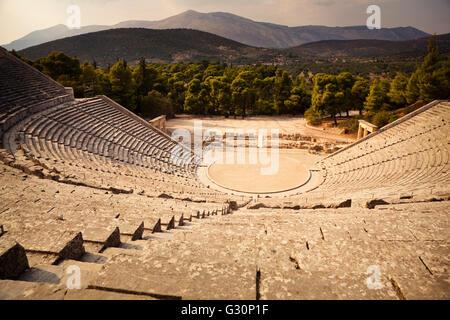 Epidaurus amphitheatre in Greece - Stock Image