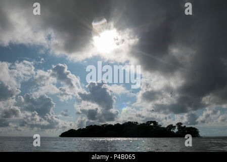 Oyster Key floats in Florida Bay,Everglades National Park, Miami, Florida, USA - Stock Image