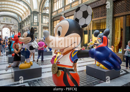 Mickey Mouse statue exhibition, Turin, Italy - Stock Image