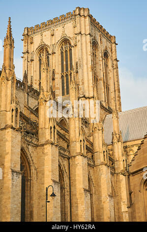 York Minster in the historic city centre. - Stock Image