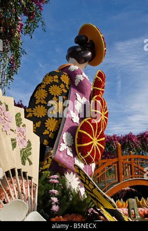 Rose Parade  Pasadena CA, Los Angeles LA,  Lathrop K. Leishman Trophy winner beautiful 'Festival of Lanterns' - Stock Image