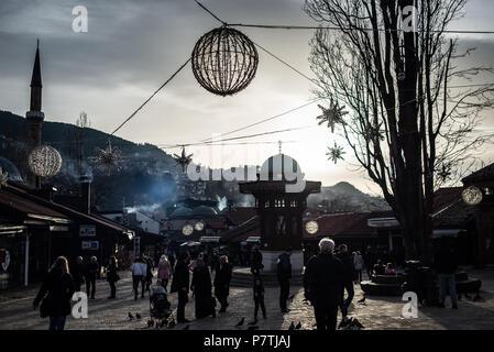 Sebilj fountain, Sarajevo Old Town, Bosnia and Herzegovina - Stock Image